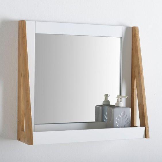 miroir avec rebord