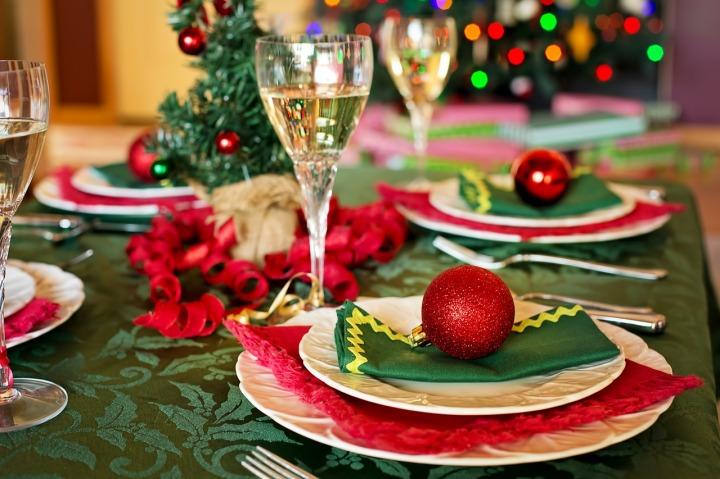 repas de noel table