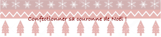 couronne de noel confection
