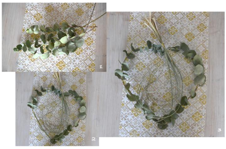 couronne de noel etapes eucalyptus