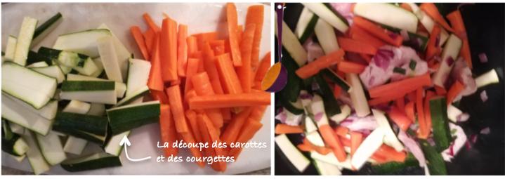 découpe carottes courgettes
