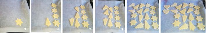 Sablés Noel decoupe des biscuits