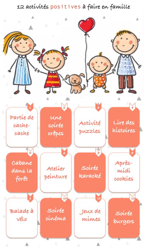 12 activités positives à faire en famille