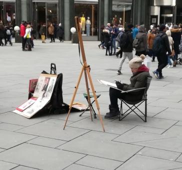 Un artiste sur la Stephansplatz