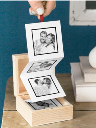 Box avec des photos