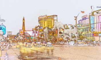 Las Vegas The Stip Cartoon