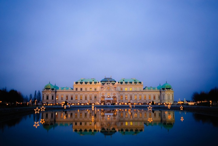 Palais du Belvedere Vienne soir