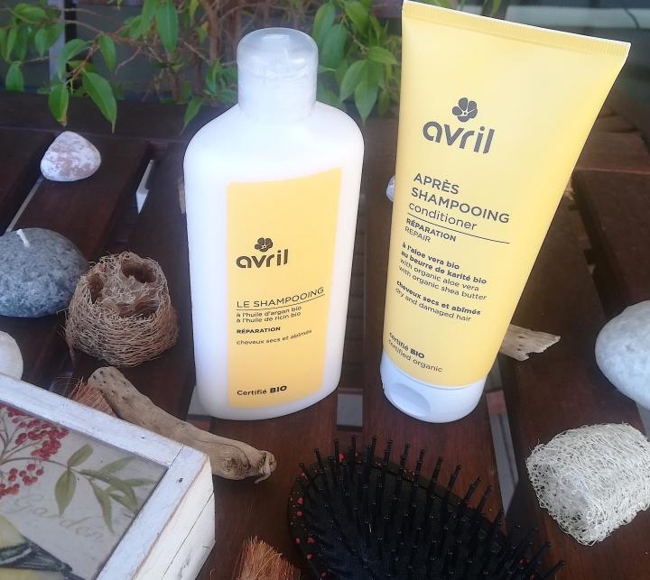 Soins shampoing et après-shampoing pour cheveux secs et abîmés - Avril