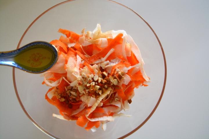 Huile d'olive salade