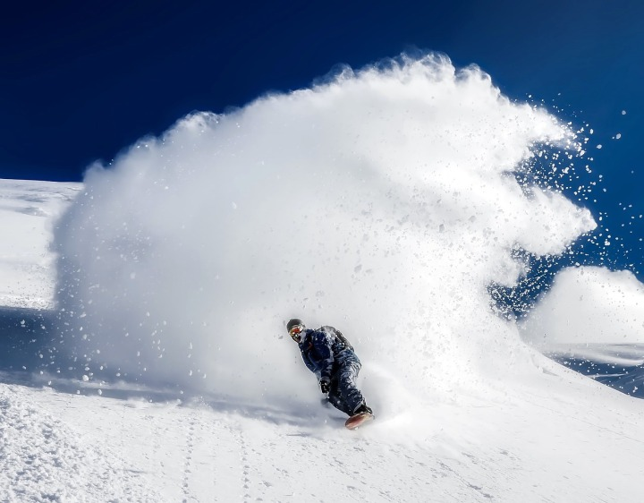 La neige montagne ski