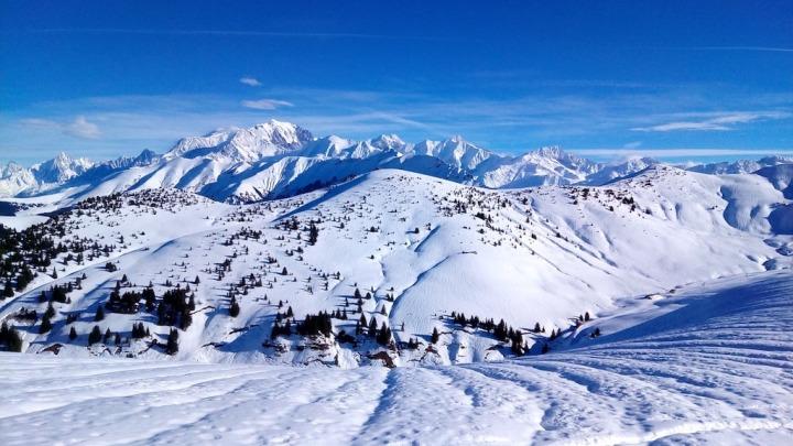 Montagne calme ski