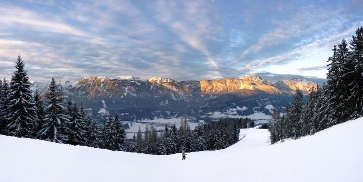paysage de montagne ski