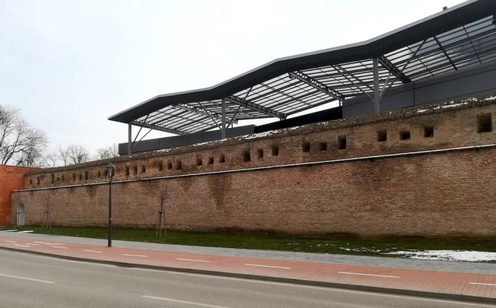 Côté intérieur des remparts de Trnava