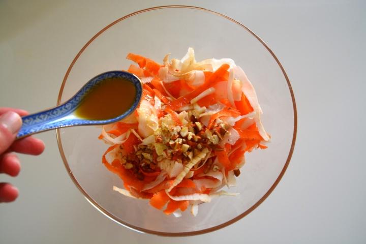 Vinaigre d'abricot salade