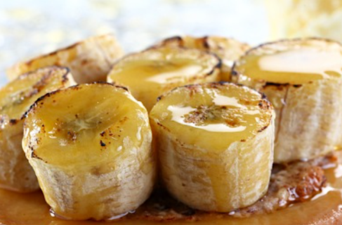 bananes caramelisees au miel