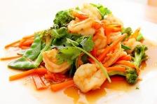 crevette legumes chinois