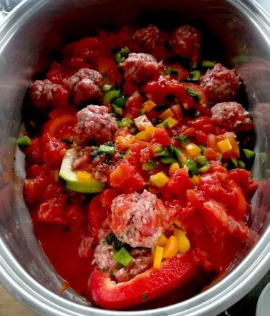 L'ajout des tomates pelées