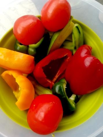 Les légumes lavés