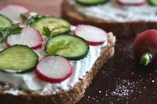 toast pain sans gluten radis