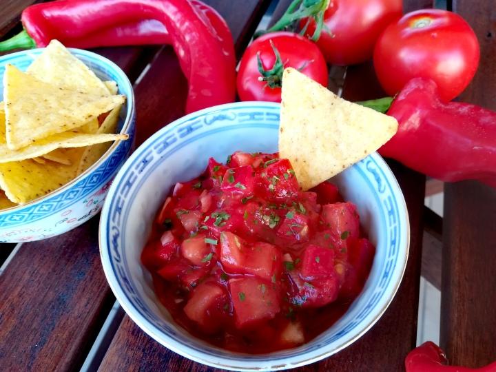 Sauce salsa pourcrackers