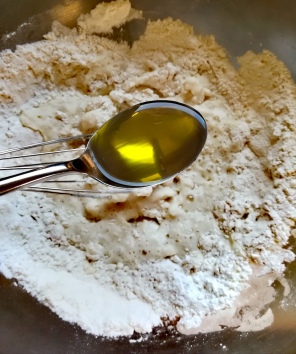 Ajout de l'huile d'olive