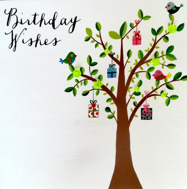 Carte anniversaire - Arbre à cadeaux