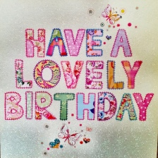 Carte anniversaire - Lovely birthday