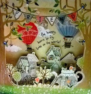 Carte célébration - Montgolfières