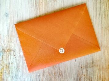 Enveloppe - Stickers avec un coeur