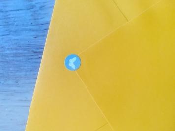 Enveloppe - Stickers avec un papillon