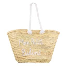 Panier de plage en osier - Source : Mon-Petit-Bikini.com