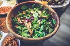 Salade épinard et poulet