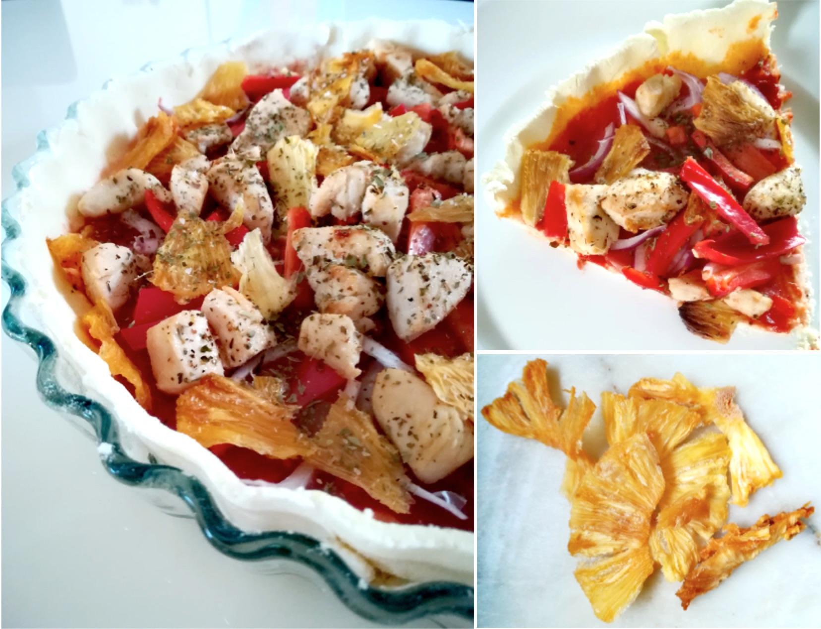 Tarte salée poulet et ananas