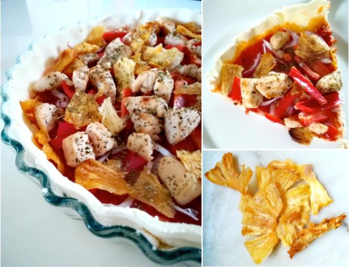 Tarte salée poulet etananas