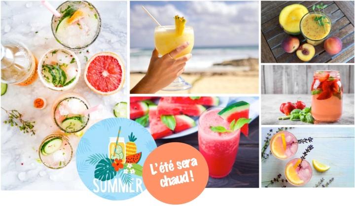 6 idées de boissons pour se rafraîchir pendantl'été