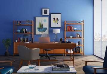 Maison décoration mur bleu