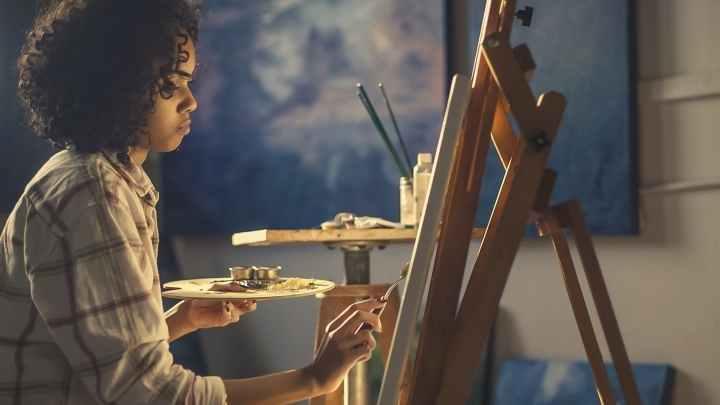 peintre tableau