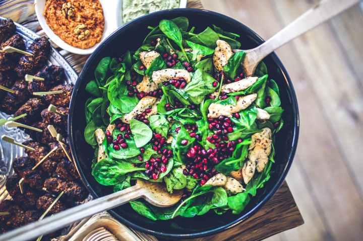 Salade épinard et grenade