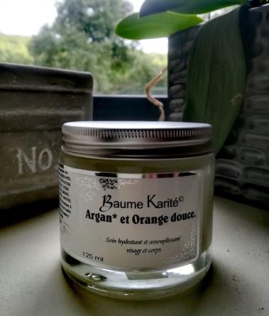 Baume huile d'argan et orange douce