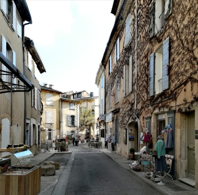 Une rue commerçante