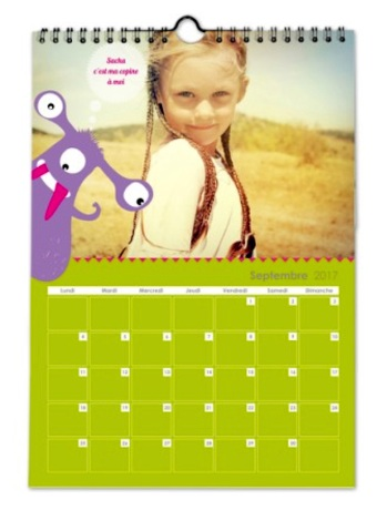 Calendrier Planet Photo interieur