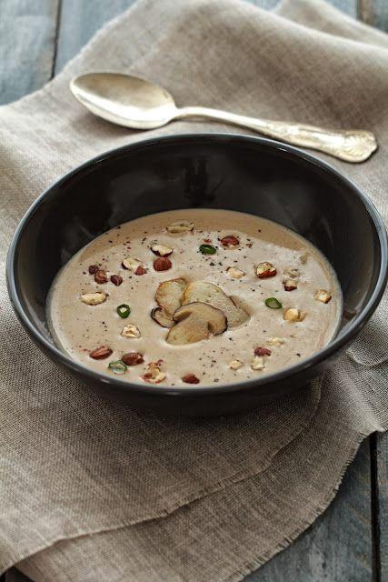 soupe champignons et noisettes