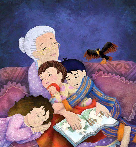 grand mère raconte histoire