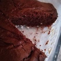 Intérieur du gâteau au chocolat