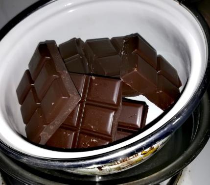 Chocolat cuit au bain marie