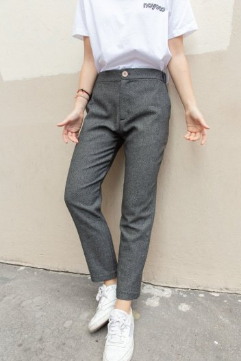 Pantalon stockholm laine recyclée - We dress fair
