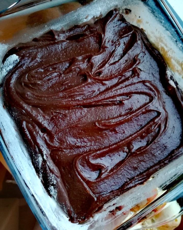 Gâteau au chocolat avant cuisson