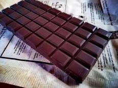 Plaque de chocolat noir