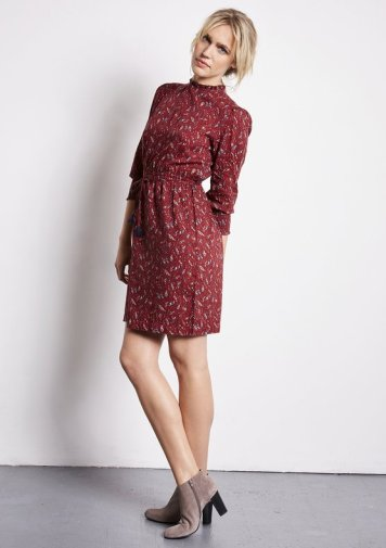 Robe Shirlina Print Leaf Cahors - Ekyog