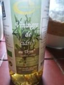 Vinaigre de cidre au thym